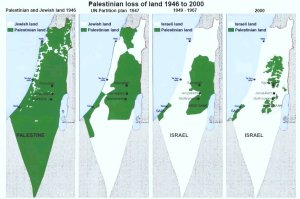 evoluzione perdita territori palestinesi