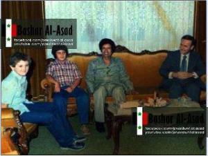 Bashar Assad e Gheddafi con i bambini