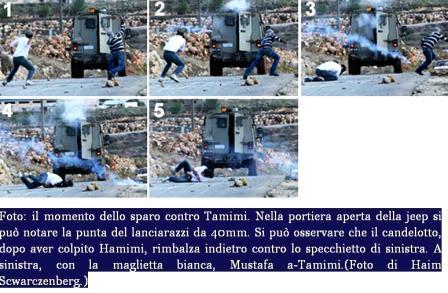 immagini tank Israele all'uccisione di Mustafa Tamimi
