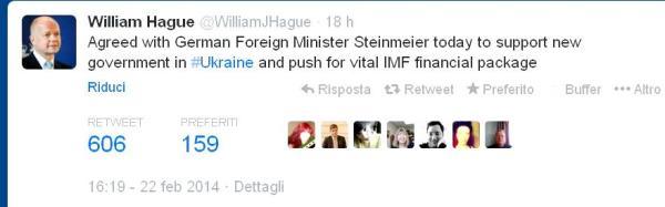 Tweet  di W.Hague