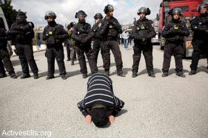 palestinese sotto i fucili Israele