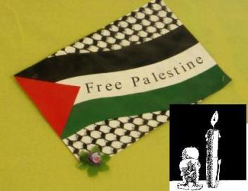 Bandiera Palestina e Handala