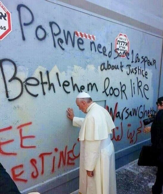 Papa Francesco Muro Betlemme