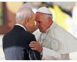 Papa Francesco e Shimon Peres