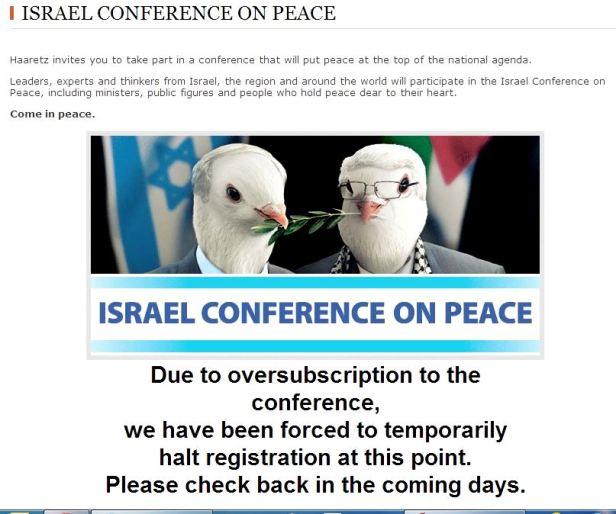 Haaretz Conferenza  di pace Israele