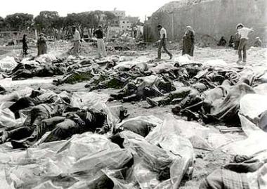 corpi vittime Deir Yassin
