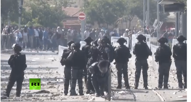police israel palestinian protests