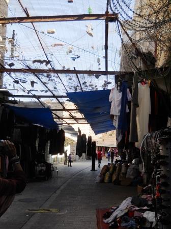 Una strada di Hebron