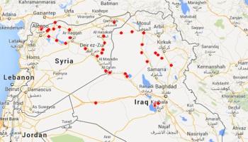 MAPPA ZONE CONTROLLATE DA ISIS