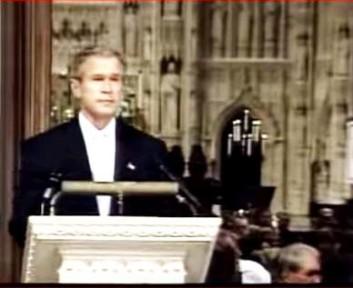 George Bush discorso in Cattedrale