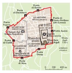 Gerusalemme Città Vecchia quartieri