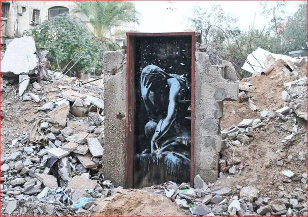 bansky gaza graffiti