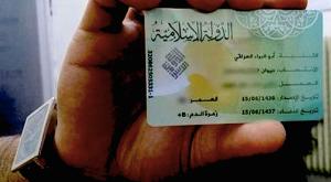 Documento Identità rilasciato da Stato Islamico IS