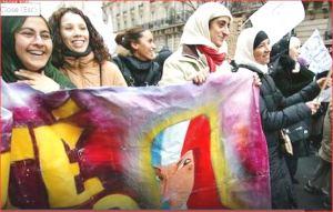 manifestazione musulmani francia