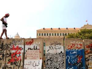 beirut wall protesters