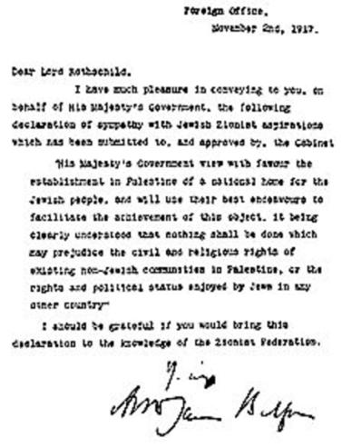 balfour-dichiarazione-letter